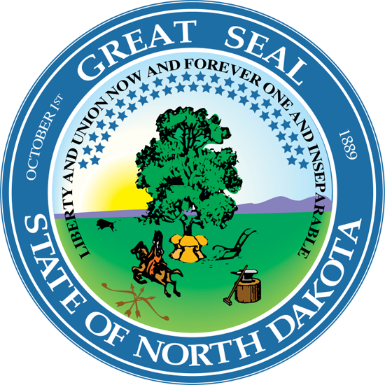 ND State Great Seal, link to renewal online form
